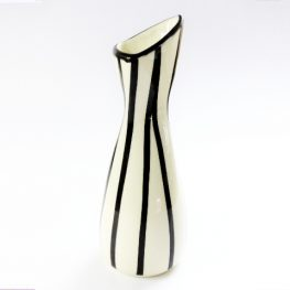 1950s black and white vase