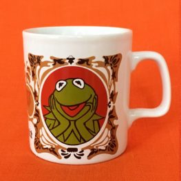 kermit the frog, 1970s mug by kilncraft