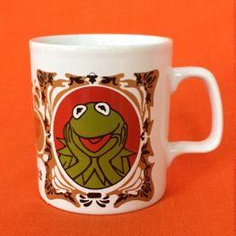 kermit the frog, 1970s mug by kilncraft