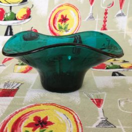 vintage retro glass bowl