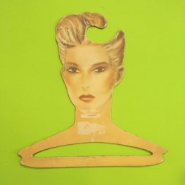 Vintage retro coat hanger like David Bowie