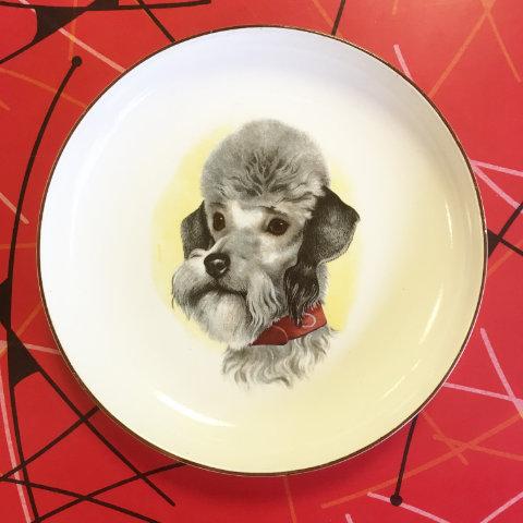 vintage Poodle Hornsea plate