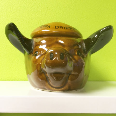 vintage pork dripping pot