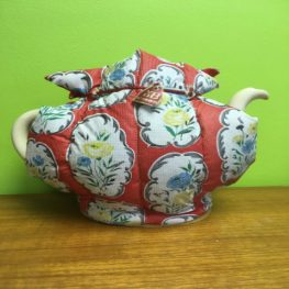 1950s vinyl floral tea cosy