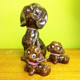 retro vintage kitsch kitsch china dogs on lead